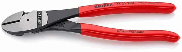 Leverage Diagonal Cutter chemically blacked plastic coated 200 mm