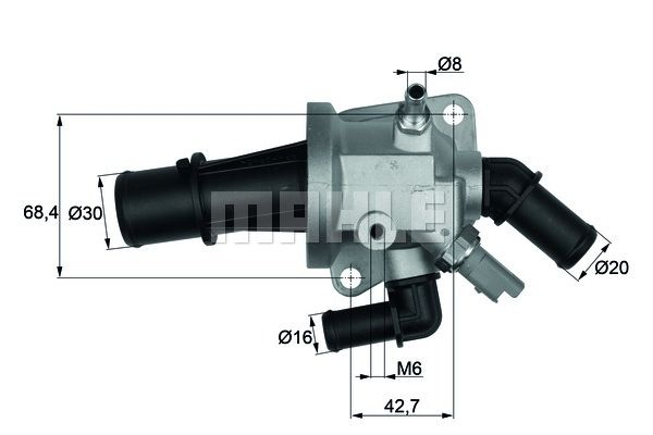 BEHR THERMOT-TRONIK Thermostat, coolant TI 153 88