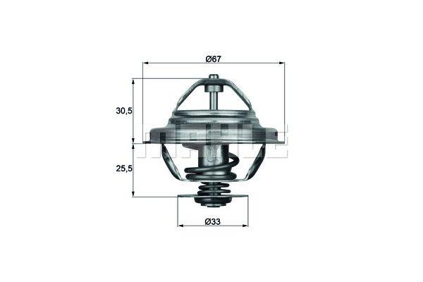 BEHR THERMOT-TRONIK Thermostat, coolant TX 27 71D