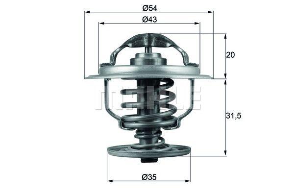 BEHR THERMOT-TRONIK Thermostat, Kühlmittel TX 109 87D