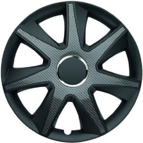 ALBRECHT Radzierblende Radkappe RUN CARBON DARK 15 Zoll 1 Stück Schwarz Premium Design 49715