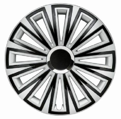 ALBRECHT Wheel cover SUNSET Plus 15 inch 1 piece silver / black 49655