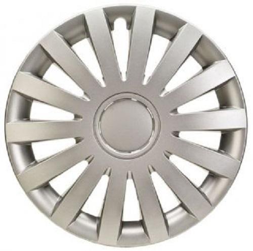 ALBRECHT Radzierblende Radkappe WIND 14 Zoll 1 Stück Silber Matt Premium Design 09274