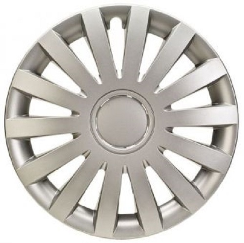 ALBRECHT Wheel cover WIND 15 inch 1 piece Silver Matt Premium Design 09275
