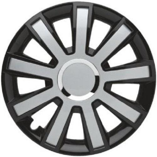 ALBRECHT Radzierblende Radkappe FLASH III Plus 15 Zoll 1 Stück Silber/Schwarz 49375