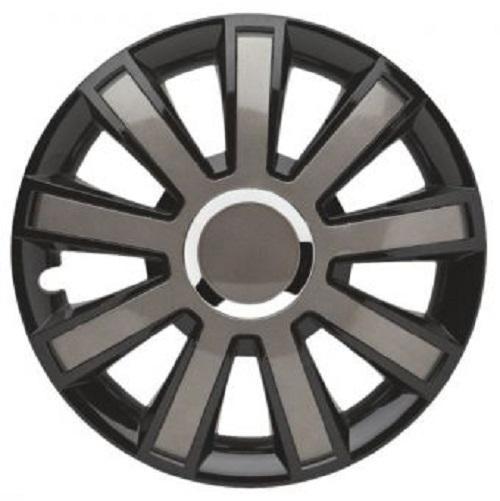 ALBRECHT Radzierblende Radkappe FLASH VIII Plus 14 Zoll 1 Stück Silber/Schwarz 49404