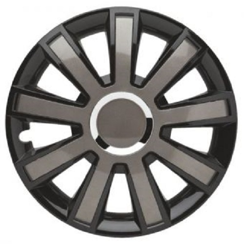 ALBRECHT Radzierblende Radkappe FLASH VIII Plus 16 Zoll 1 Stück Silber/Schwarz 49406