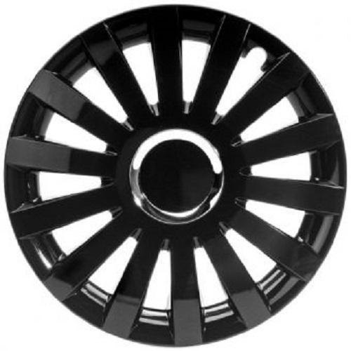 ALBRECHT Radzierblende Radkappe SAIL BLACK Plus 14 Zoll 1 Stück Schwarz Premium Design 49234