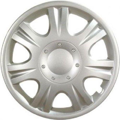 ALBRECHT Radzierblende Radkappe IBIZA 13 Zoll 1 Stück Silber Matt Premium Design 09043