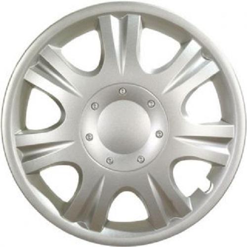ALBRECHT Radzierblende Radkappe IBIZA 14 Zoll 1 Stück Silber Matt Premium Design 09044