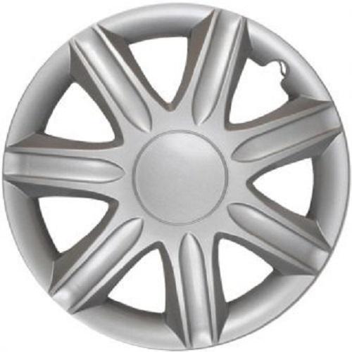 ALBRECHT Radzierblende Radkappe RUBIN 16 Zoll 1 Stück Silber Matt Premium Design 09086