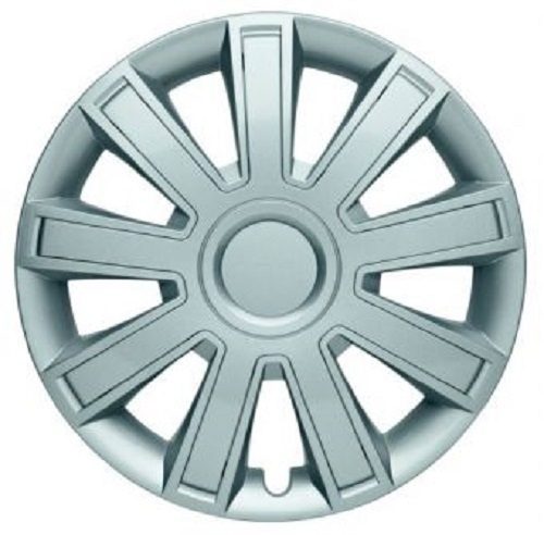 ALBRECHT Wheel cover hubcap VENUS NYLON LUX 14 inch 1 piece Silver Master Line 08974