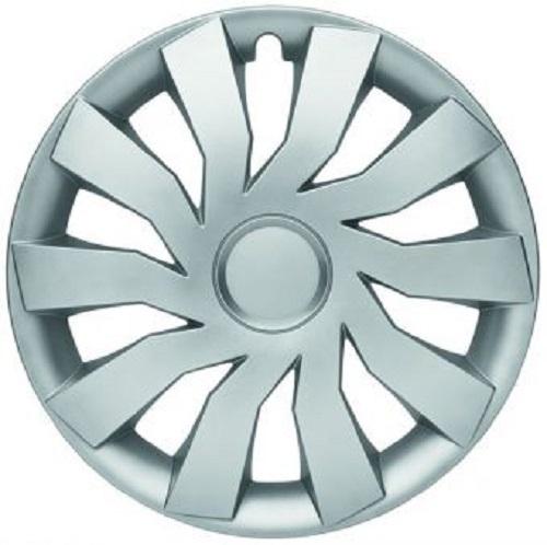 ALBRECHT Radzierblende Radkappe HILL 13 Zoll 1 Stück Silber Matt Premium Design 09023
