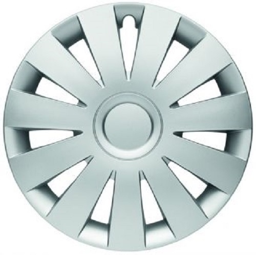 ALBRECHT Wheel Trim Hubcap STRIKE 15 Inch 1 Piece Silver Matt Premium Design 09005