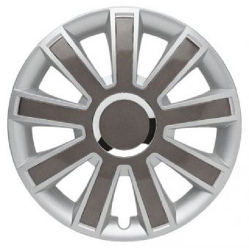 ALBRECHT Radzierblende Radkappe FLASH II Plus 14 Zoll 1 Stück Silber/Grau 49364