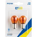 CARTECHNIC Metallsockellampe PY21W Orange Blinker 2 Stück Blister 40 27289 00600 0