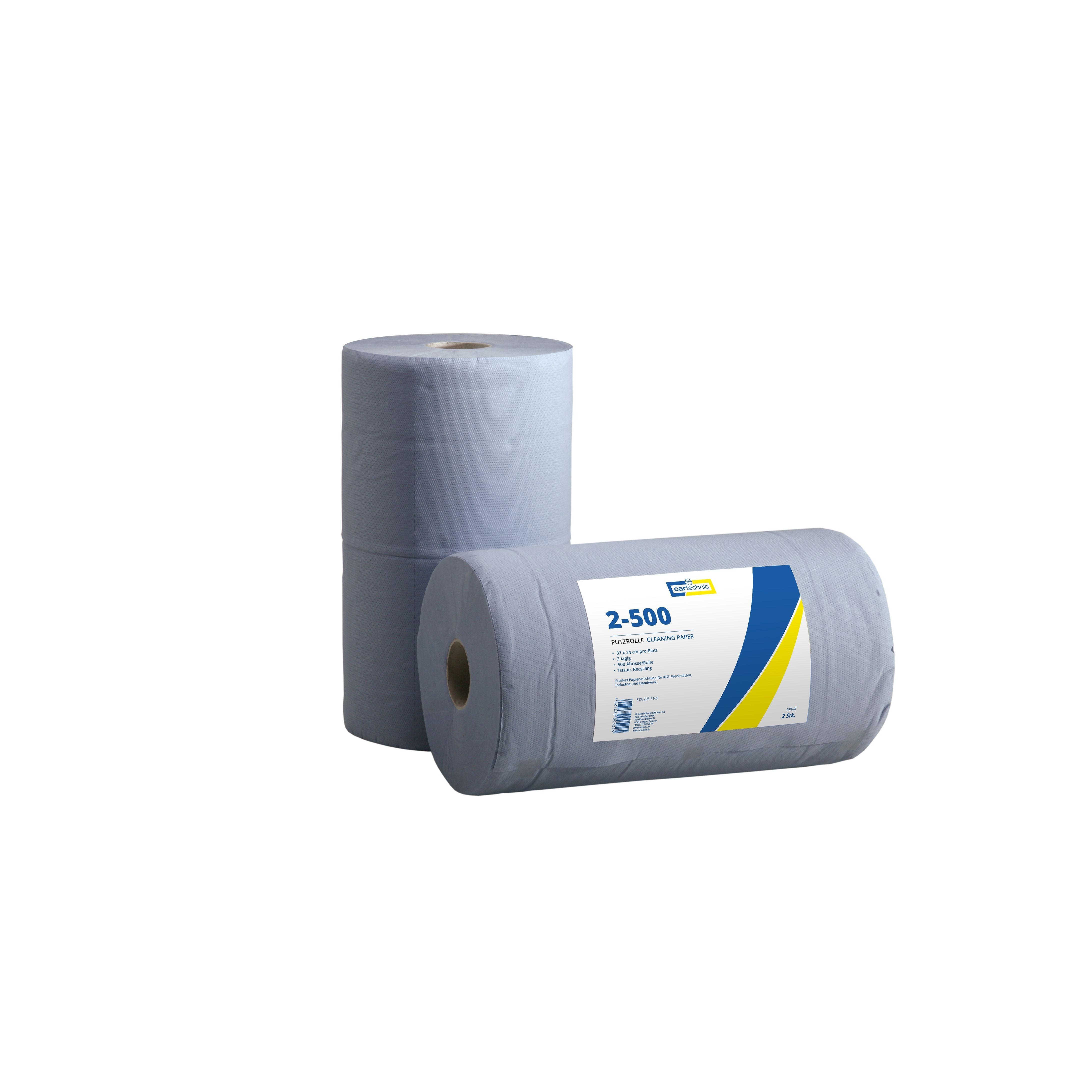 CARTECHNIC Putzrolle Papierrolle Werkstatt 2-lagig 500 Abrisse 37x34 228225
