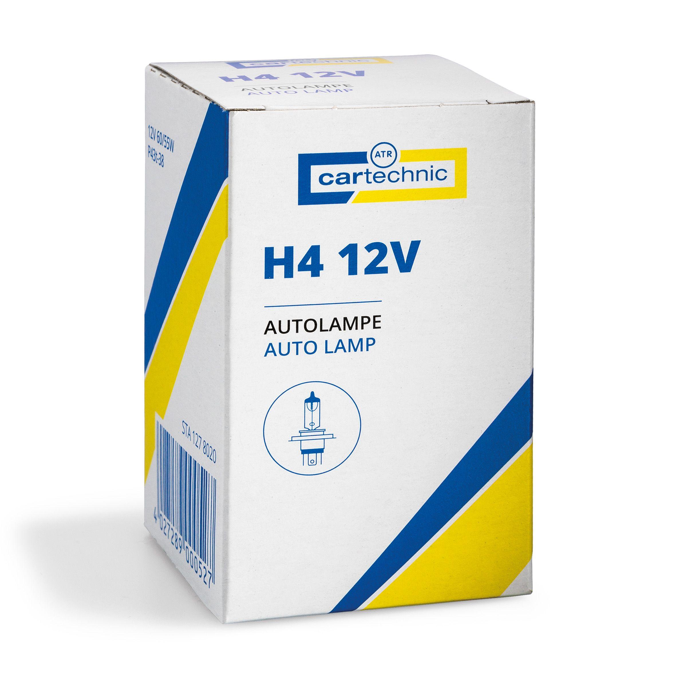 CARTECHNIC Glühlampe Glühbirne H4 12 Volt 60/55 Watt 40 27289 00052 7
