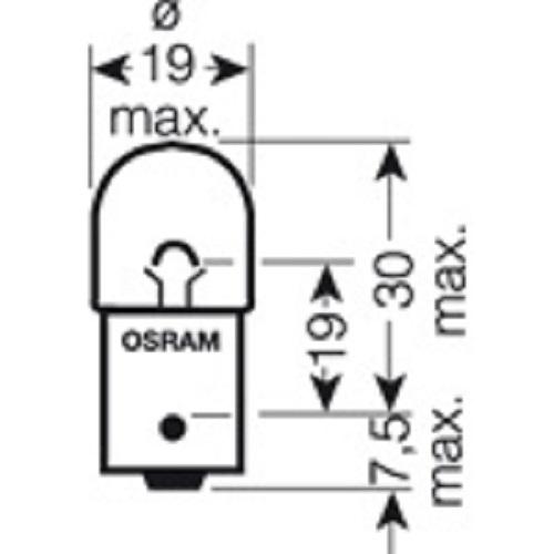 CARTECHNIC Metal socket bulb Incandescent bulb R10Watt Blister 2 pieces 40 27289 00592 8