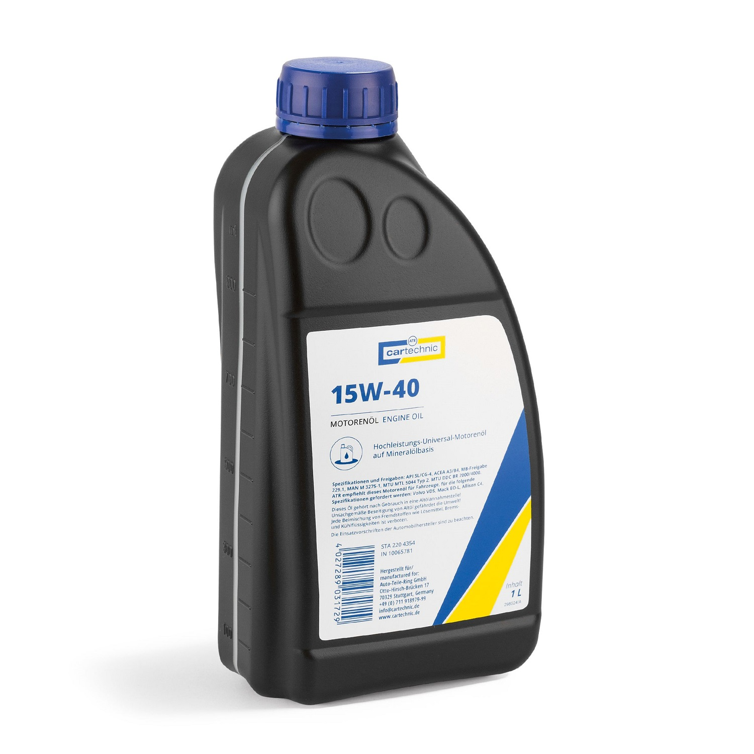 CARTECHNIC Engine oil engine oil SAE 15W40 1 liter 5081216625