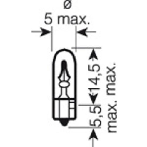 CARTECHNIC Glassockellampe T5 24 Volt 1,2 Watt W2x4,6d 40 27289 00071 8