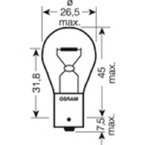 CARTECHNIC Metallsockellampe Glühlampe Glühbirne 21/5Watt BAY15D 40 27289 00055 8