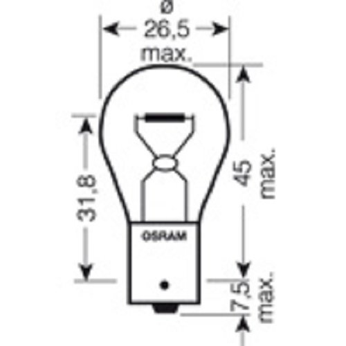 CARTECHNIC Metallsockellampe Glühlampe Glühbirne P21W 21 Watt 12 Volt BA15s 40 27289 00056 5