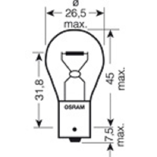 CARTECHNIC Metallsockellampe Glühbirne Glühlampe P21W 21 Watt 24 Volt Heavy Duty 40 27289 00072 5