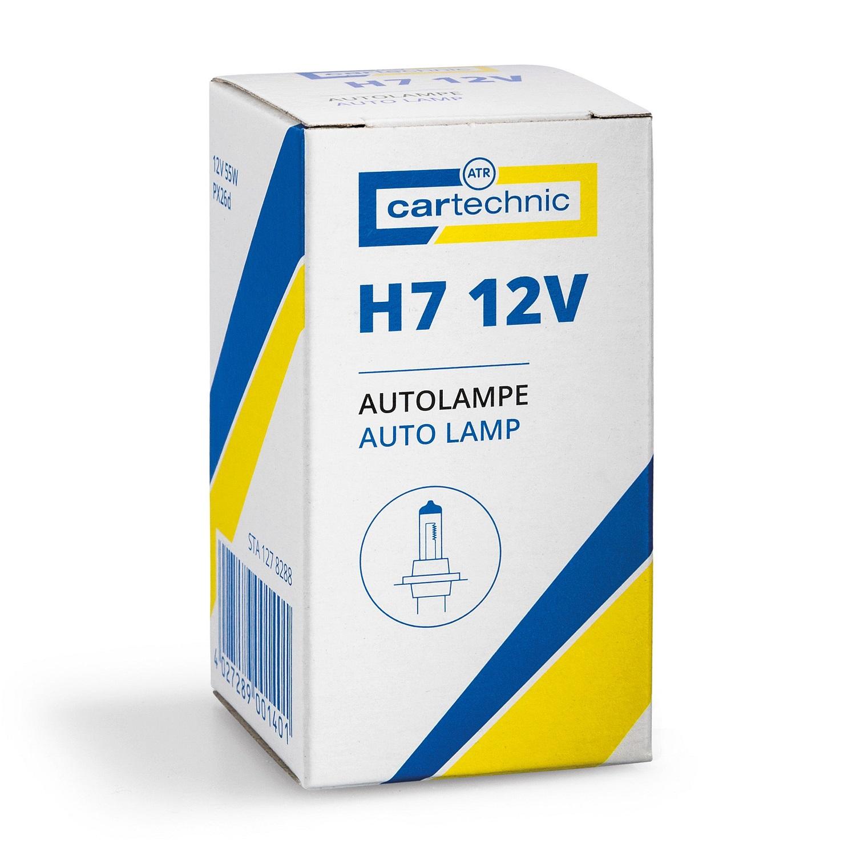 CARTECHNIC Glühlampe Glühbirne Scheinwerferlampe H7 12 Volt 60/55 Watt 40 27289 00140 1