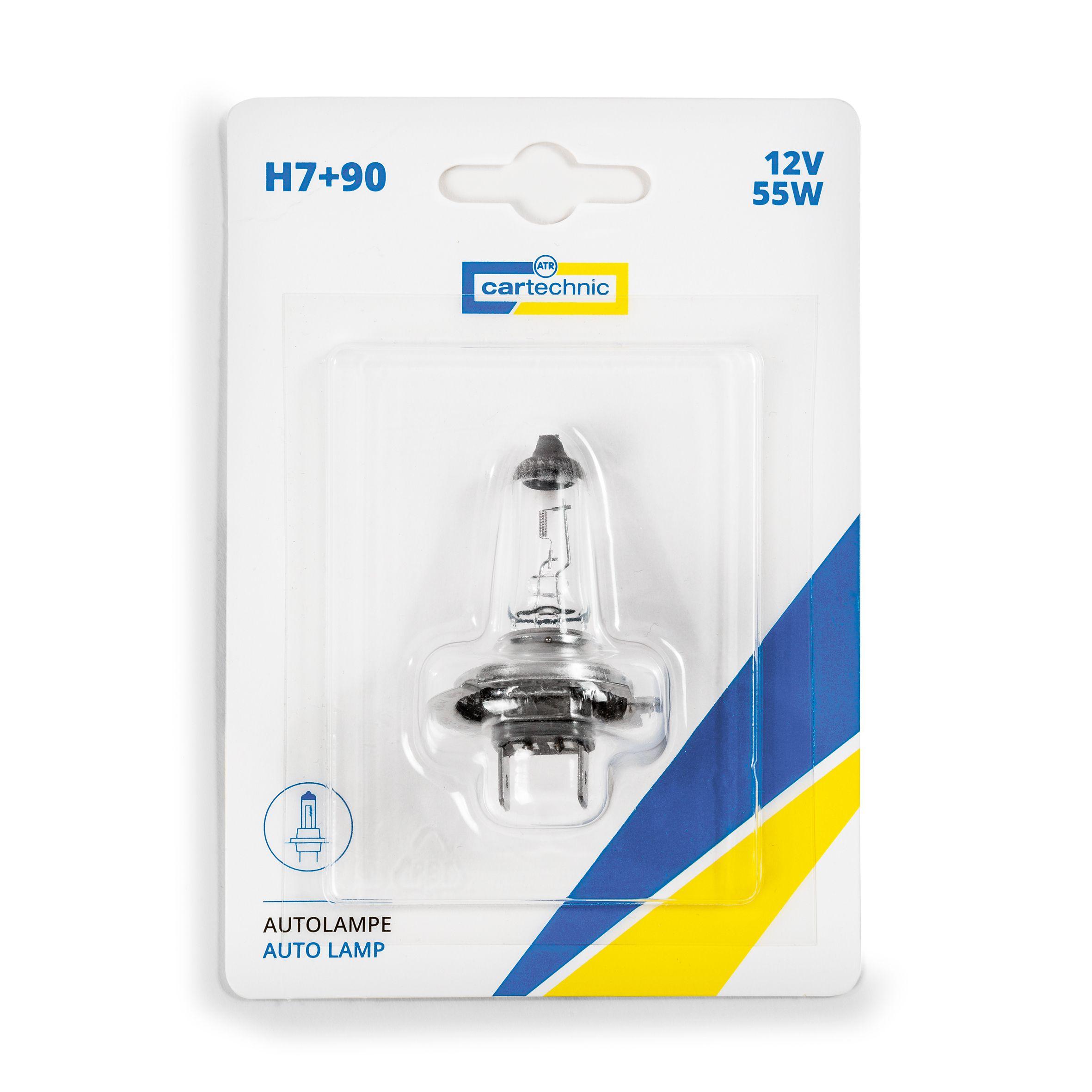 CARTECHNIC Glühlampe Glühbirne Scheinwerferlampe H7 +90% 12 Volt 55 Watt Blister 40 27289 03510 9