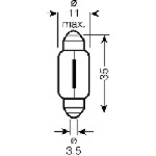 CARTECHNIC Soffittenlampe C5W 5 Watt 24 Volt SV-8,5-8 36mm 40 27289 00069 5