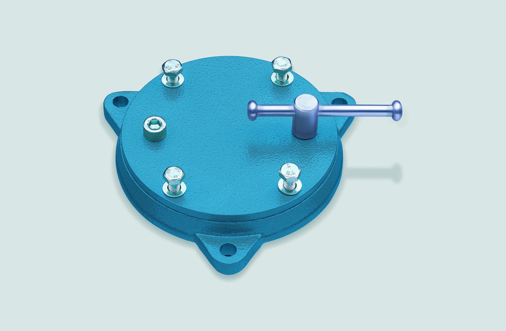 HEUER Drehteller Schraubstock Größe 100 + Compact-Schraubstock 120 103 100