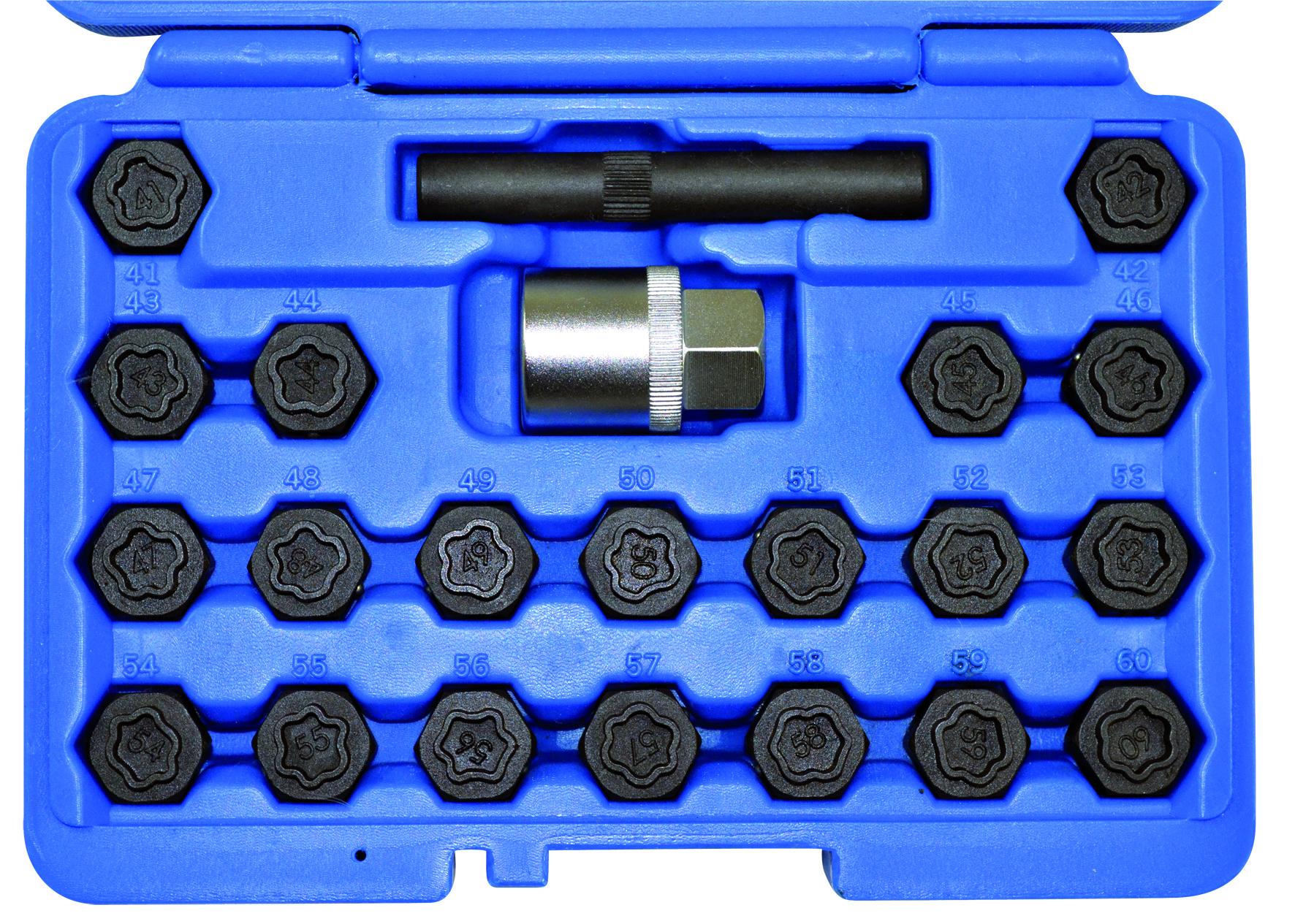 Felgenschloss-Schlüssel-Satz BMW mit 20 Stern-Schlüsseln KUNZER (7FSB22)