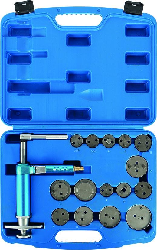 Pneumatischer Bremskolbenrückstell-Werkzeugsatz, 16-teilig KUNZER (7PB16.1)