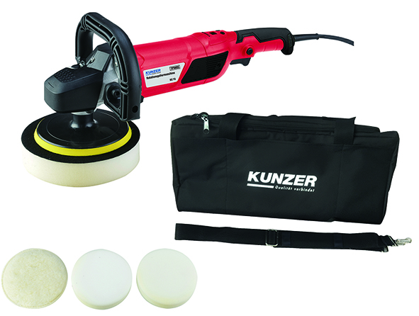 Rotary polisher with accessories in carrying case KUNZER (7PM05)