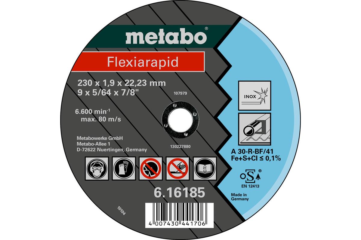 METABO Flexiarapid 230x1,9x22,23 Inox, cutting disc, straight execution (616185000) 616185000