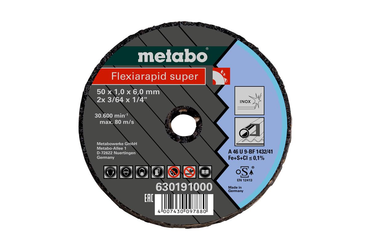 METABO Small cutting disc Flexiarapid Super 76x2,0x6,0 Inox (630194000) 630194000