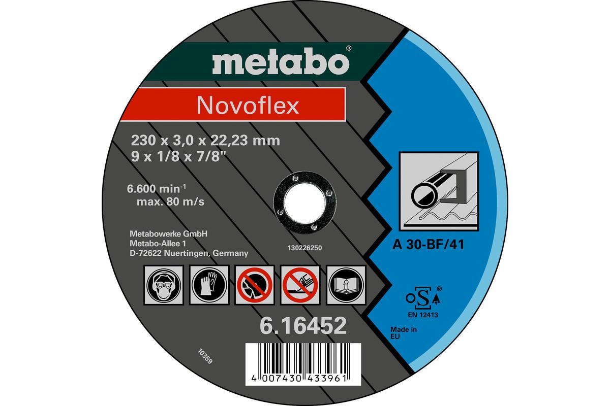 METABO Novoflex 115x2,5x22,23 steel, cutting disc, straight execution (616442000) 616442000