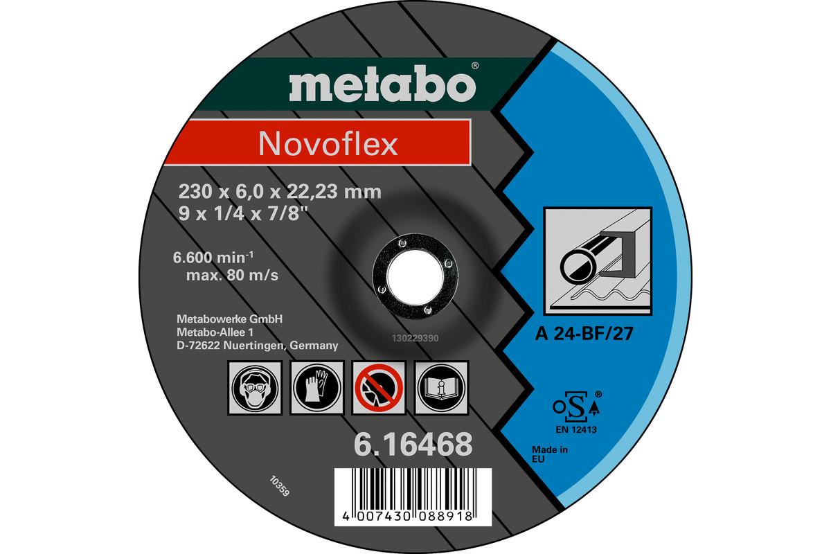 METABO Novoflex 230x6,0x22,23 Stahl, Schruppscheibe, gekröpfte Ausführung (616468000) 616468000
