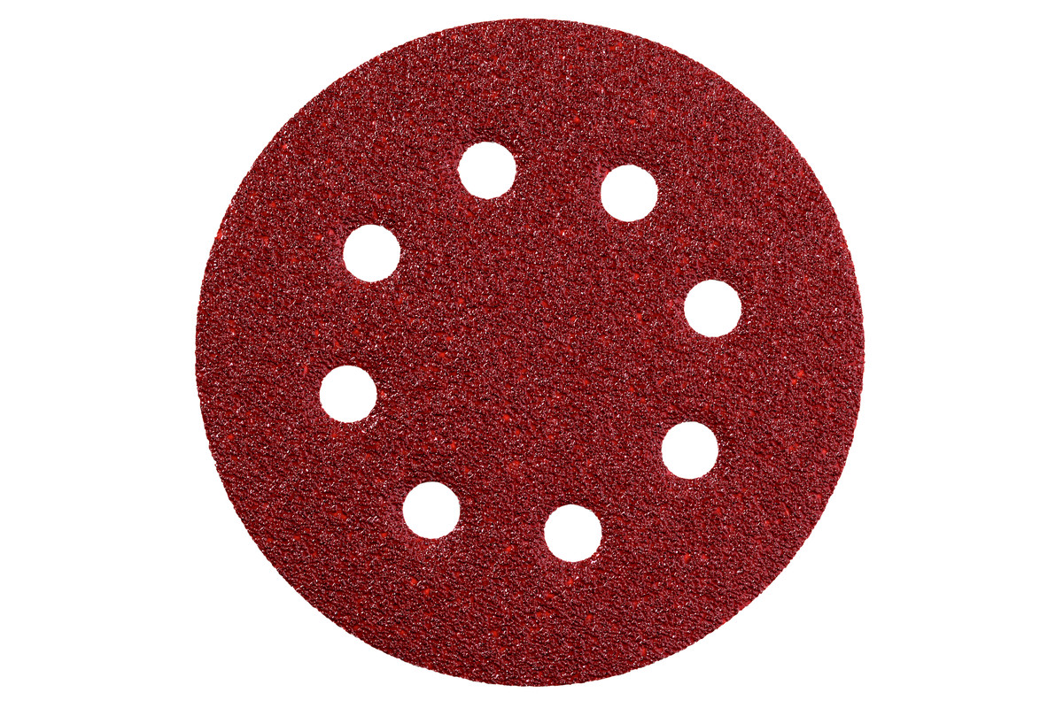 METABO 25 adhesive sanding sheets, 125 mm, P 40, series for wood and metal (631584000) 631584000