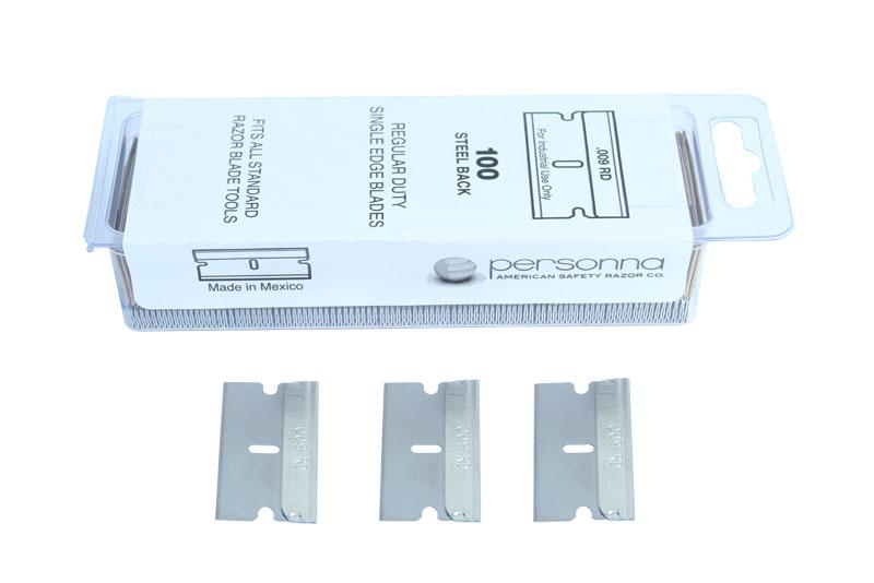 PROGLASS Schaberklingen 40 mm breit, Packung zu 100 Stück RK-100A