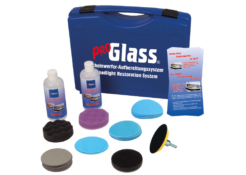 PROGLASS ProGlass headlight conditioning system Complete set in case SAS-340