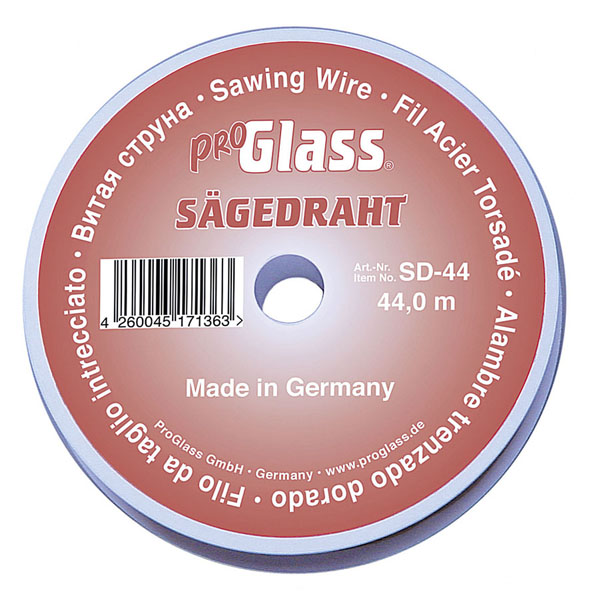 PROGLASS ProGlass SD saw wire, Ø 0.80 mm, 44 m on plastic spool SD-44