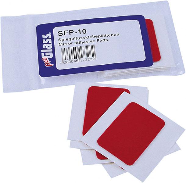 PROGLASS Spiegelfußklebeplättchen, Packung zu 10 Stück SFP-10