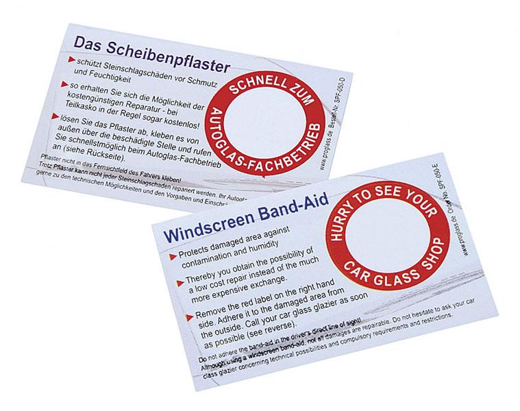PROGLASS Scheibenpflaster German, pack of 50 pieces SPF-050-D