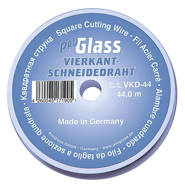 PROGLASS ProGlass cutting wire VKD, square 0.6 x 0.6 mm, 44 m on plastic spool VKD-44