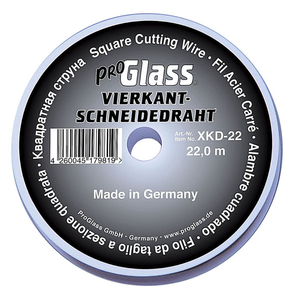 PROGLASS ProGlass cutting wire XKD, square 0.7 x 0.7 mm, 22 m on plastic spool XKD-22