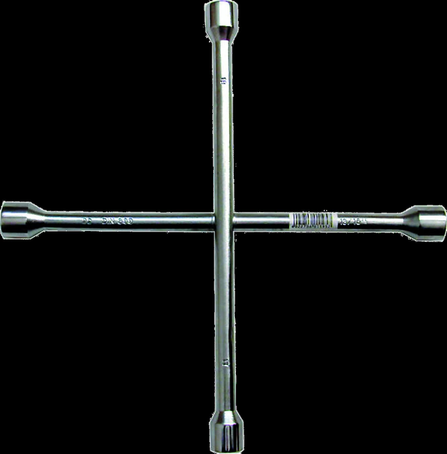 SWSTAHL Radkreuzschlüssel DIN 899, verchromt 02200L