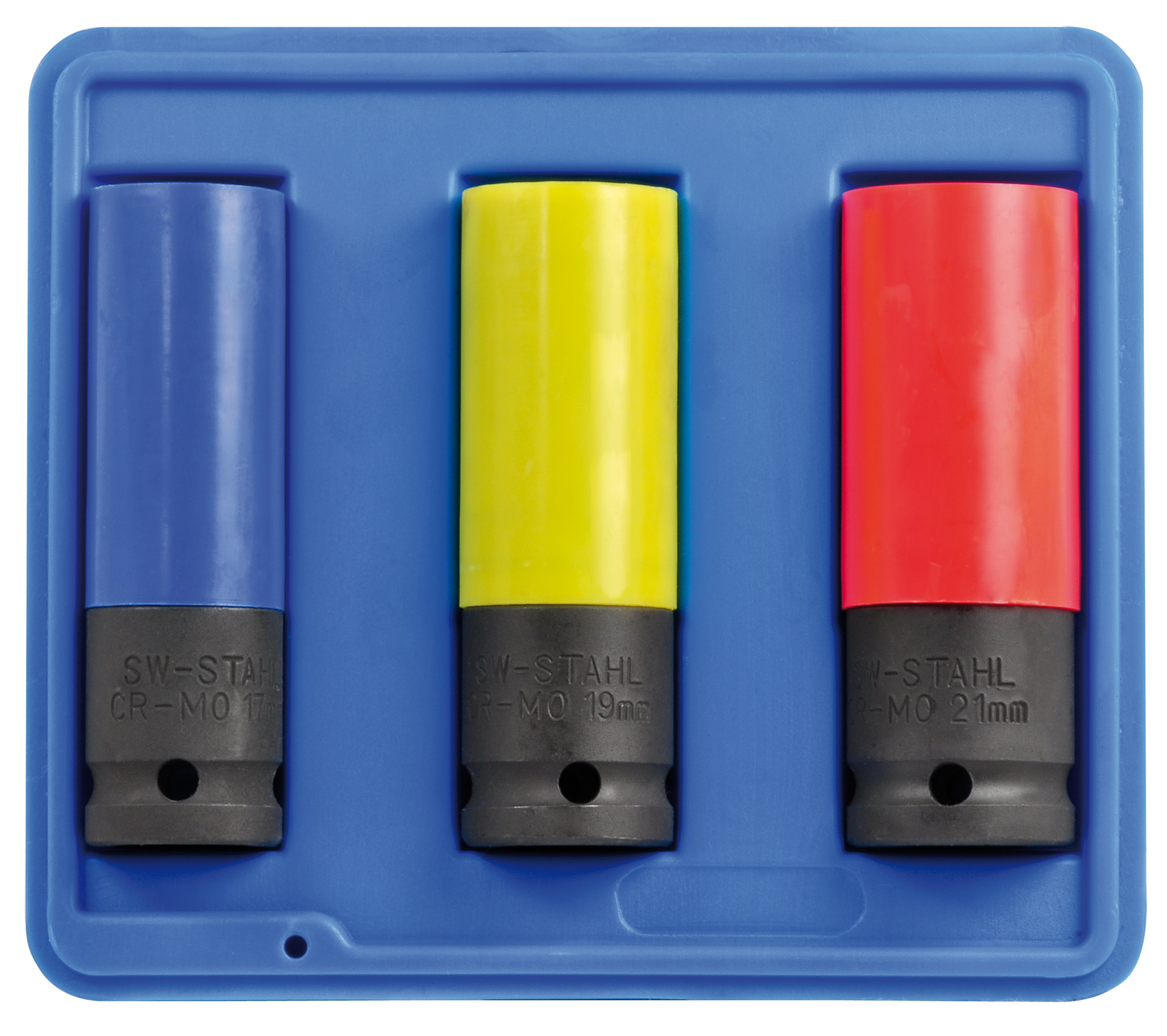 SWSTAHL Radmutterneinsätze, 1/2 Zoll, 17-21 mm, 3-teilig 07870L