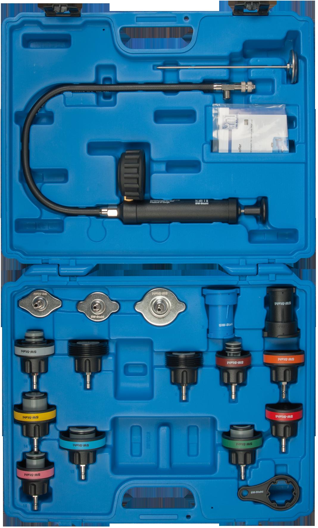 SWSTAHL Radiator removal tool case, 18-piece 21000L